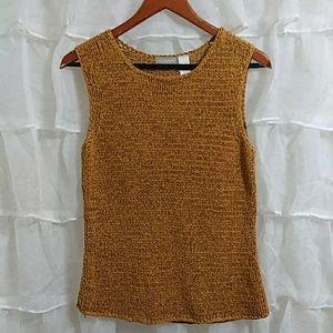 LIZ CLAIBORNE Braided Knit Vest